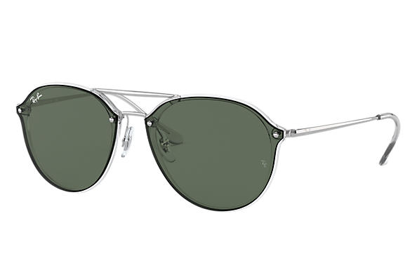 Ray-Ban 0RB4292N-BLAZE DOUBLE BRIDGE Transparent; Silver SUN