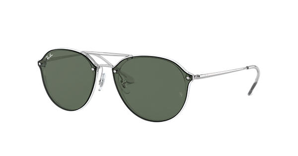 Ray-Ban Blaze Double Bridge RB4292N Transparent - Injected - Green Lenses -  0RB4292N63257162   Ray-Ban® USA 5a939ecd288a