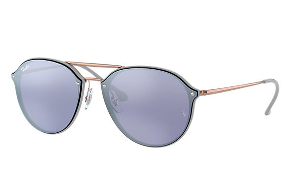 Ray-Ban 0RB4292N-BLAZE DOUBLE BRIDGE Grau; Bronze-Kupfer SUN