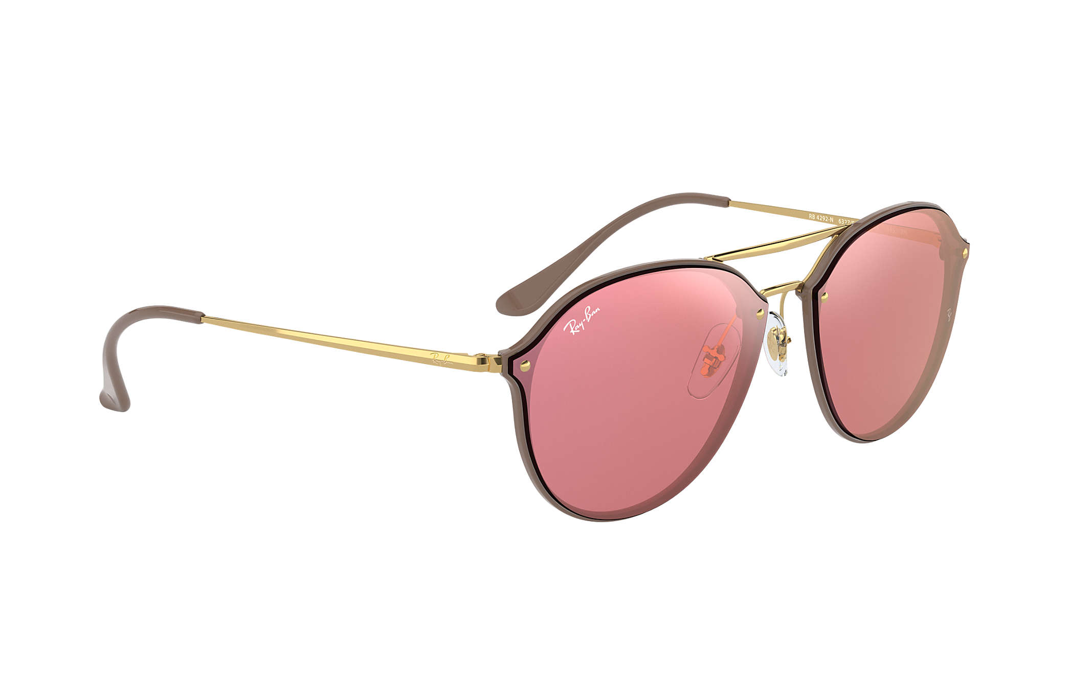 2945a7a8ef Ray-Ban Blaze Double Bridge RB4292N Brown - Injected - Pink Lenses ...