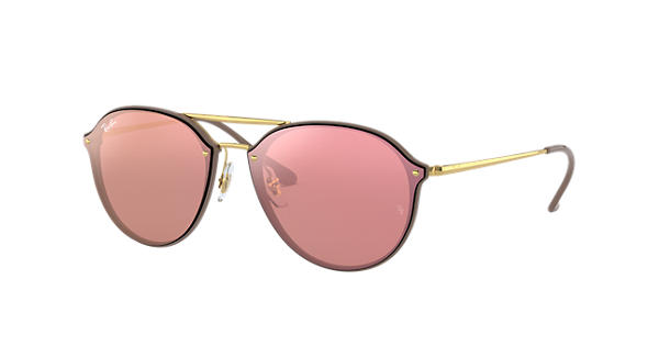 edc7ad4df3c Ray-Ban Blaze Double Bridge RB4292N Brown - Injected - Pink Lenses -  0RB4292N6327E462