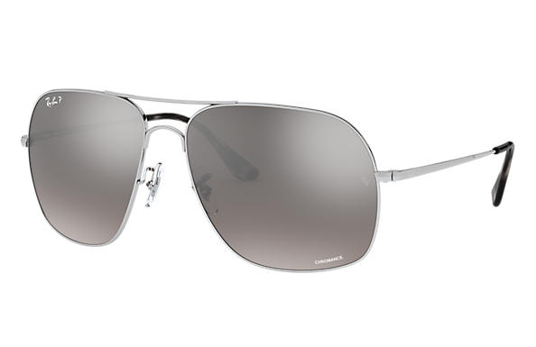 Ray-Ban 0RB3587CH-RB3587 CHROMANCE Zilver SUN