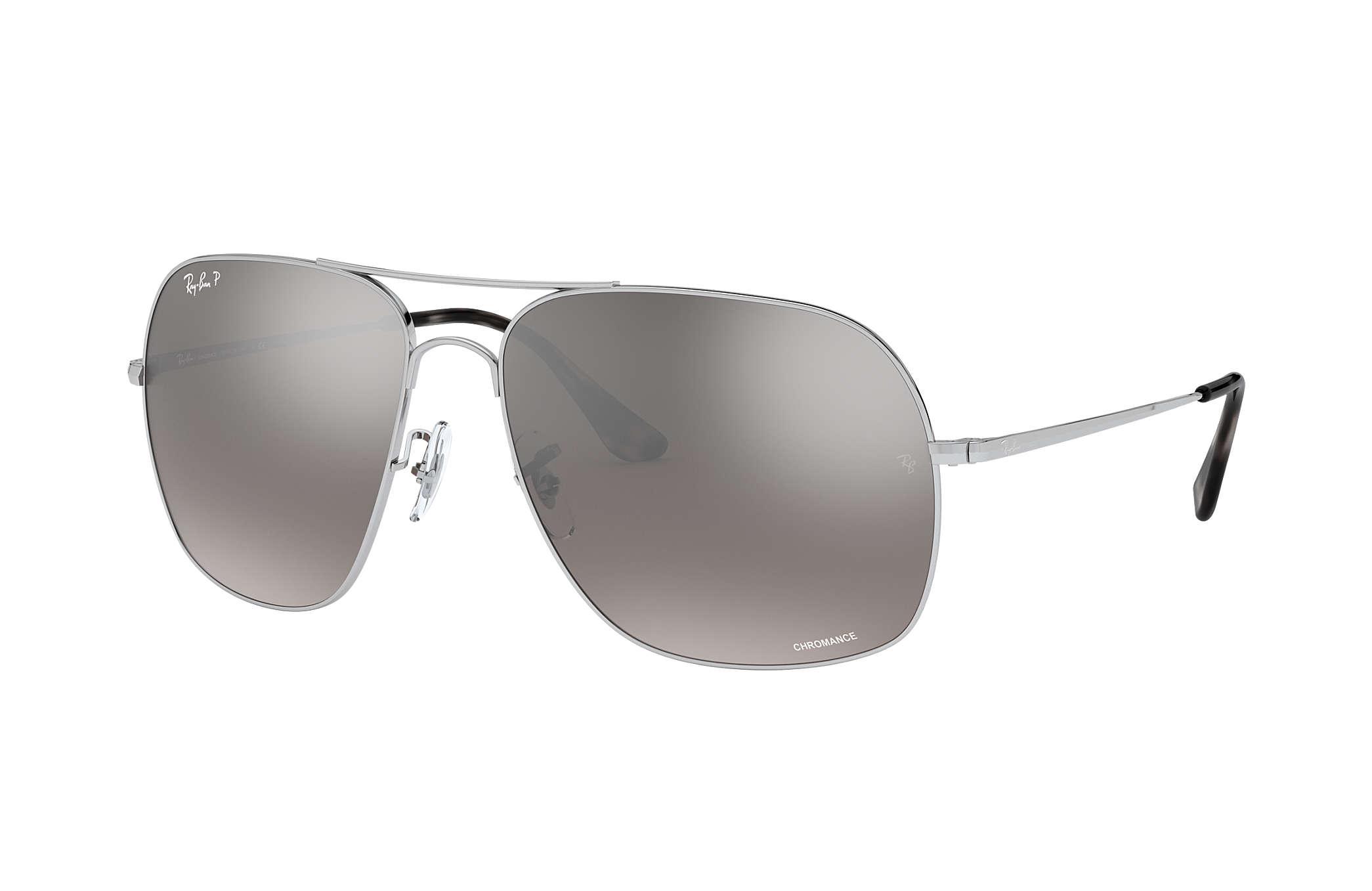 5f277e232b7 Ray-Ban Rb3587 Chromance RB3587CH Silver - Metal - Silver Polarized ...