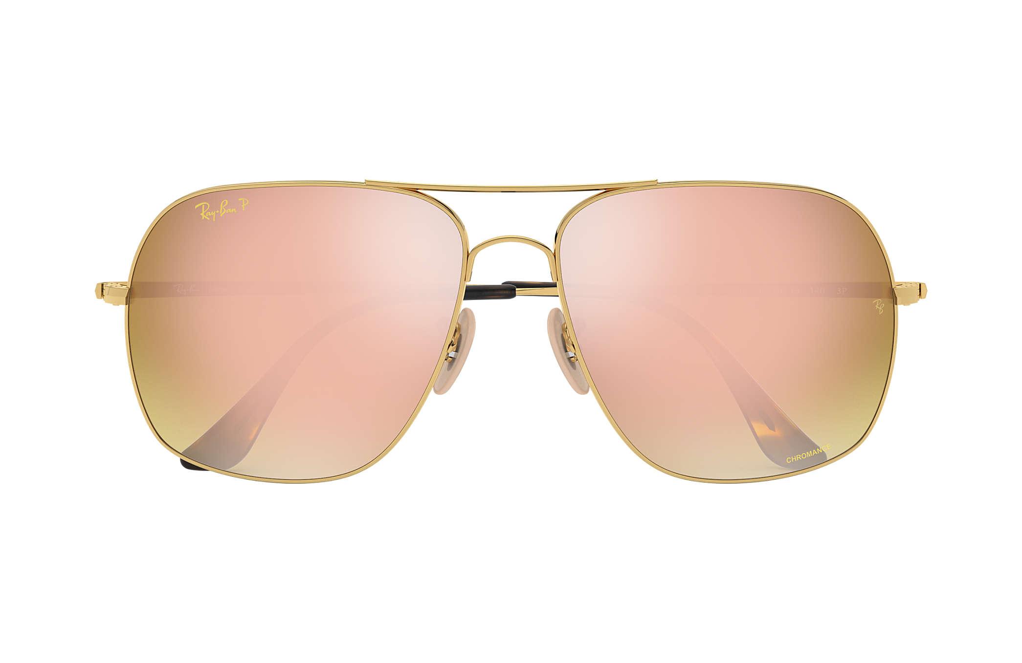 92ec6019ee Ray-Ban Rb3587 Chromance RB3587CH Gold - Metal - Pink Polarized ...