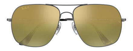 Ray-Ban RB3587 CHROMANCE Gunmetal with Green Mirror Chromance lens