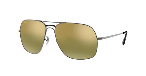 7bdf674a2f1 Ray-Ban Rb3587 Chromance RB3587CH Gunmetal - Metal - Green Polarized Lenses  - 0RB3587CH029 6O61