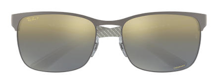 Ray-Ban RB8319 CHROMANCE Gunmetal with Blue Gradient Mirror Chromance lens