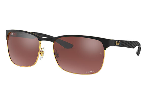 Ray-Ban 0RB8319CH-RB8319 CHROMANCE Black,Gold; Black SUN