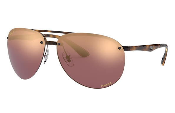 Ray-Ban Sunglasses RB4293 CHROMANCE Tortoise with Purple Mirror Chromance lens