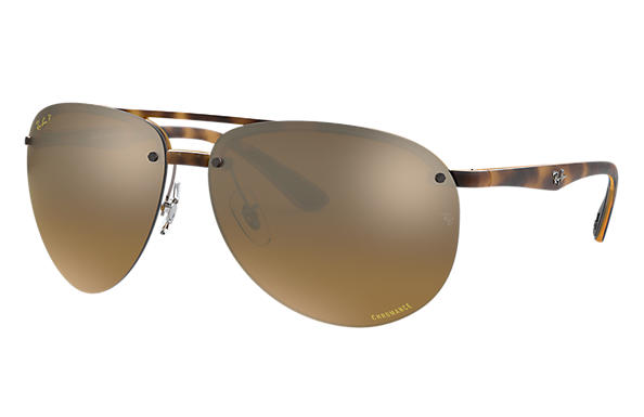 Ray-Ban Sunglasses RB4293 CHROMANCE Tortoise with Bronze Mirror Chromance lens