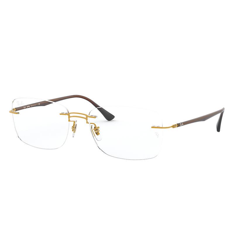 Image of Ray-Ban Brown Eyeglasses - Rb8750