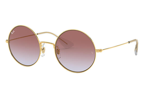 Ray-Ban Sunglasses JA-JO Gold with Violet Gradient lens