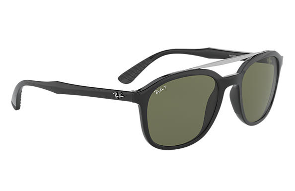 Ray Ban Sunglasses Black WGreen Polarized Lens RB4290 6019A