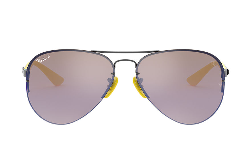 Ray-Ban Sonnenbrillen RB3460M SCUDERIA FERRARI COLLECTION Gunmetal mit Blau Mirror Chromance Gläsern