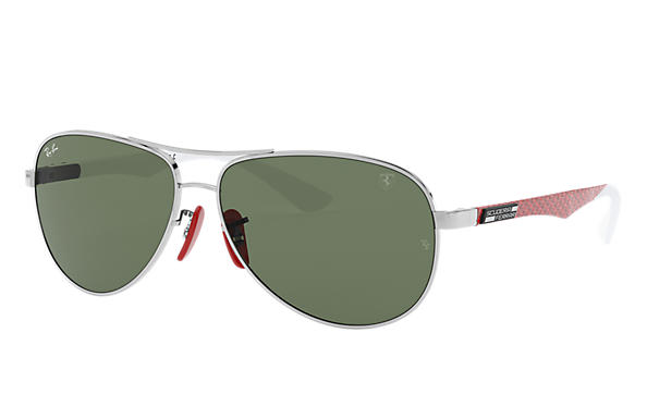 6e17fc52ee Ray-Ban Rb8313m Scuderia Ferrari Collection RB8313M Silver - Steel ...