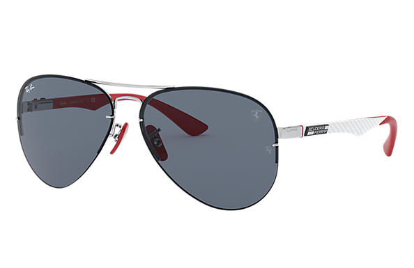 Ray-Ban Sunglasses RB3460M SCUDERIA FERRARI COLLECTION Silver with Grey Classic lens
