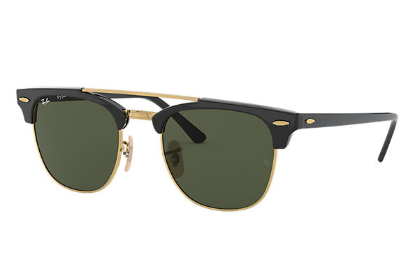 Ray-Ban 0RB3816-CLUBMASTER DOUBLE BRIDGE Black SUN