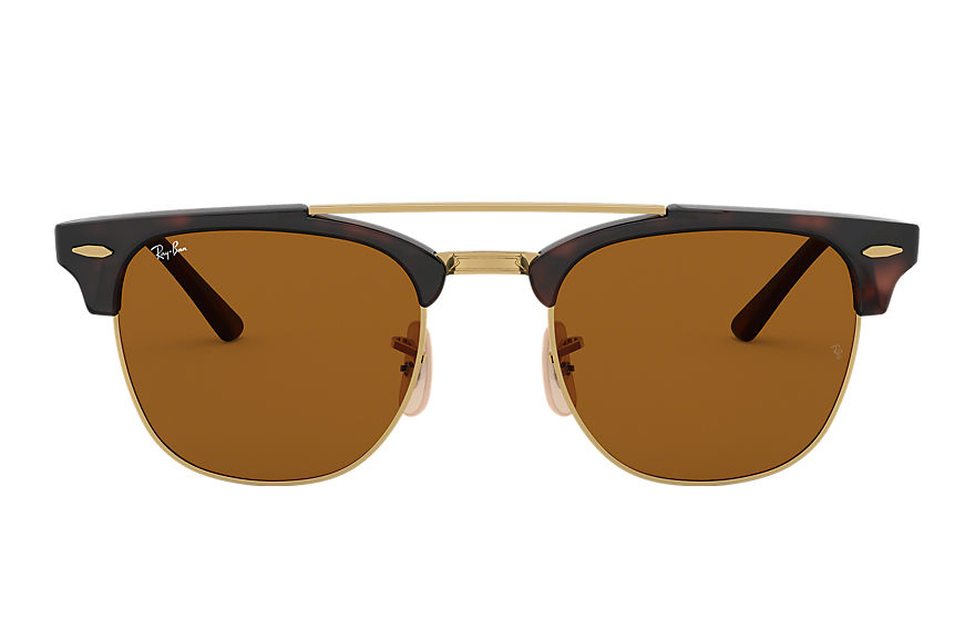 Ray-Ban  lunettes de soleil RB3816 MALE 002 clubmaster double bridge havane 8053672851038