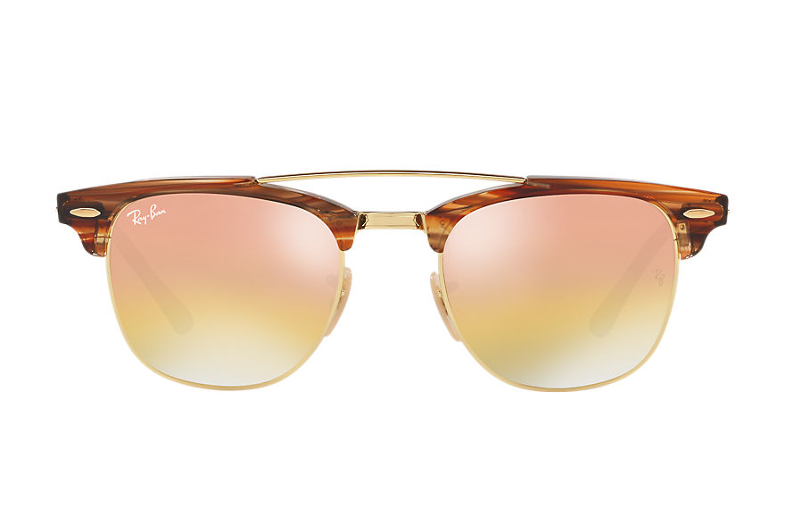 Ray-Ban  sonnenbrillen RB3816 MALE 003 clubmaster double bridge hellbraun 8053672851045