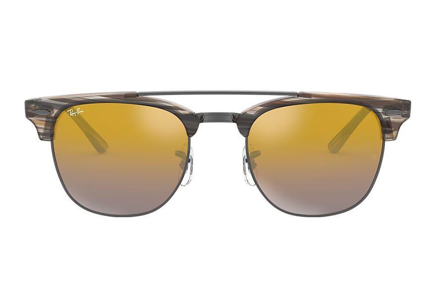 Ray-Ban  lunettes de soleil RB3816 MALE 004 clubmaster double bridge marron 8053672851052