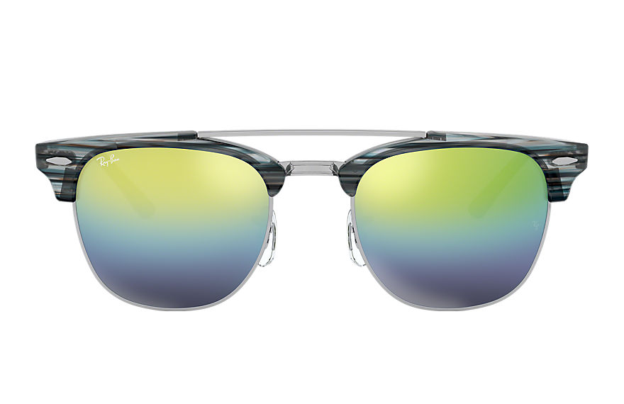 Ray-Ban  sonnenbrillen RB3816 MALE 001 clubmaster double bridge blau 8053672851069