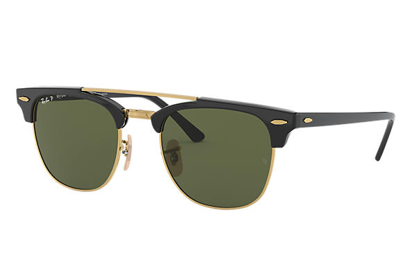 084a681f1 Ray-Ban Clubmaster Double Bridge RB3816 Black - Nylon - Green ...