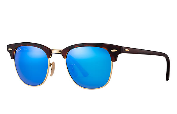 Ray-Ban 0RB3016-CLUBMASTER FLASH LENSES Havana SUN