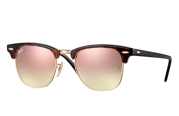 Ray-Ban Gafas-de-sol CLUBMASTER FLASH LENSES GRADIENT Carey con lente Cobre Flash degradado