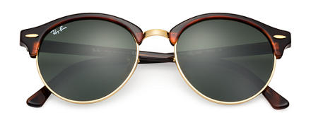 Ray-Ban CLUBROUND CLASSIC Tortoise with Green Classic G-15 lens