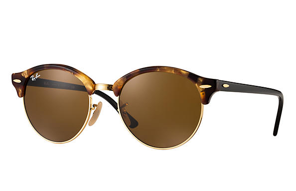 108f658973 Ray-Ban Clubround Classic RB4246 Tortoise - Acetate - Brown Lenses ...