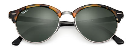 1506a7f52ed Ray-Ban CLUBROUND CLASSIC Tortoise with Green Classic G-15 lens