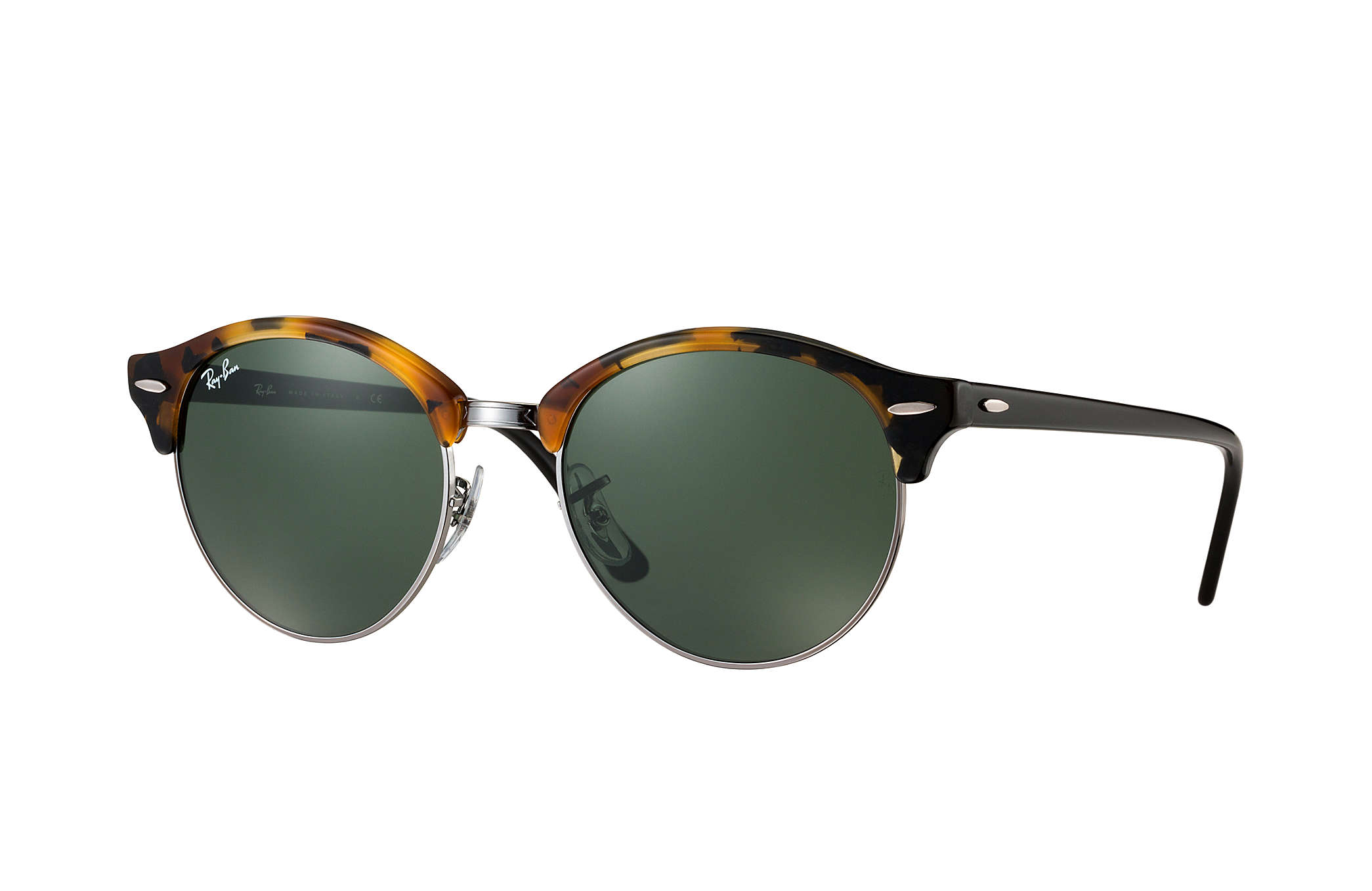 9f145baf4a Ray-Ban Clubround Classic RB4246 Tortoise - Acetate - Green Lenses ...