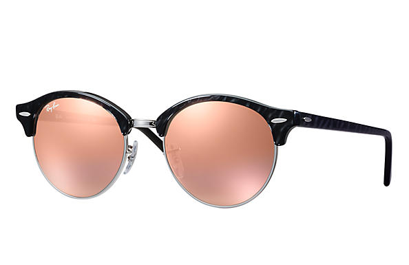 Ray-Ban 0RB4246-CLUBROUND FLASH LENSES Noir,Argent; Noir SUN