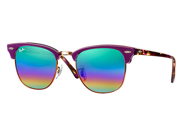 Ray-Ban 0RB3016-CLUBMASTER MINERAL FLASH LENSES Violeta SUN