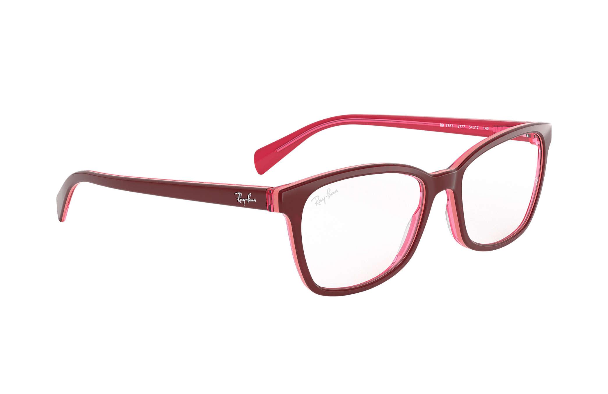 Occhiali da vista Ray Ban RB5362 Viola Rosso Acetato