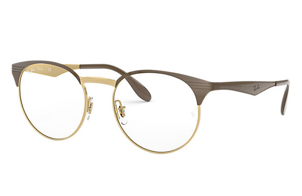 Ray-Ban 0RX6406-RB6406 Brown,Gold OPTICAL