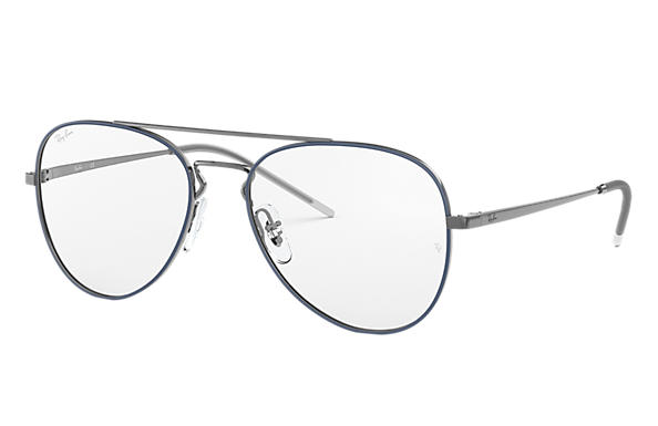 Ray-Ban 0RX6413-RB6413 Blau,Gunmetal; Gunmetal OPTICAL