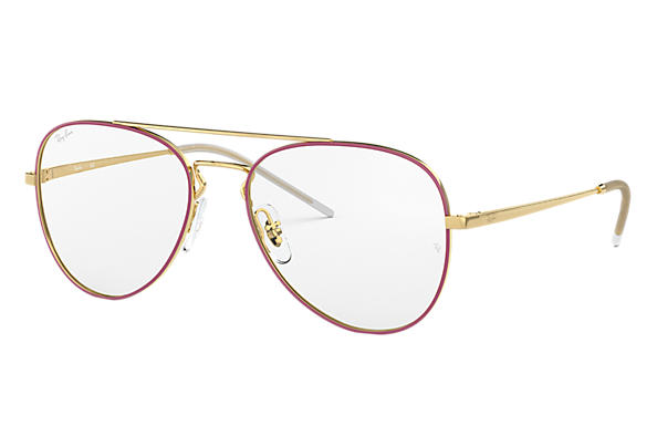 Ray-Ban 0RX6413-RB6413 Bordeaux,Gold; Gold OPTICAL