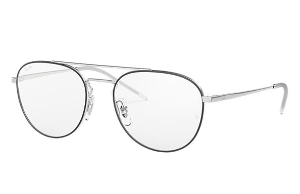 Ray-Ban 0RX6414-RB6414 Black,Silver; Silver OPTICAL