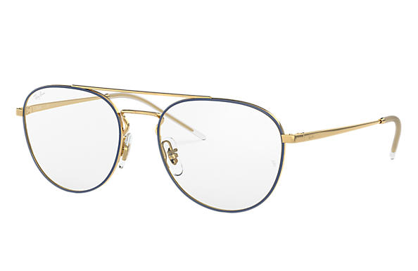 Ray-Ban 0RX6414-RB6414 Bleu,Or; Or OPTICAL
