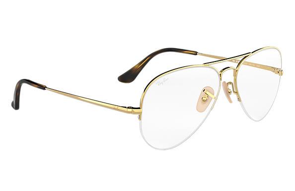 Occhiali da vista Ray Ban colore oro , a goccia , rb6589