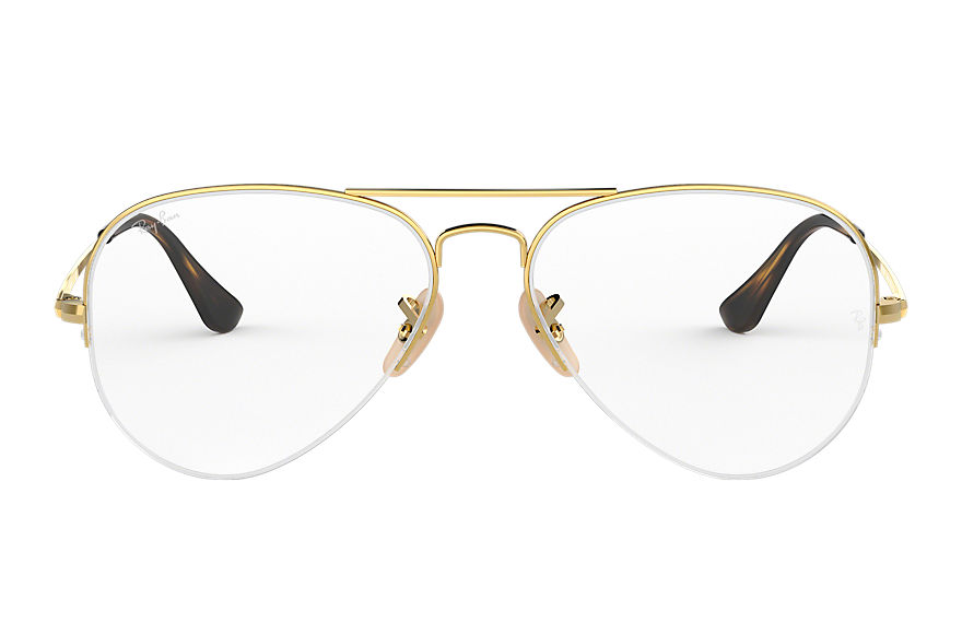 Ray-Ban  eyeglasses RX6589 UNISEX 002 aviator gaze 골드 8053672864083