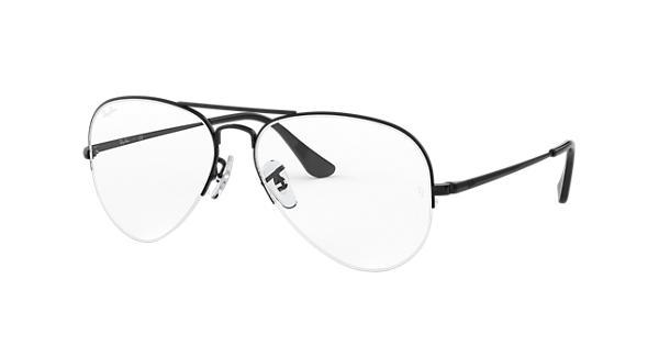 8ff87db4f12 Ray-Ban eyeglasses Aviator Gaze RB6589 Black - Metal - 0RX6589250959 ...