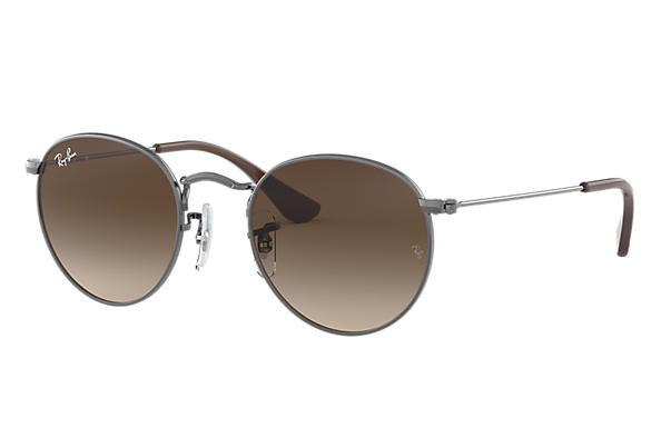 Ray-Ban 0RJ9547S-ROUND METAL JUNIOR Gunmetal SUN