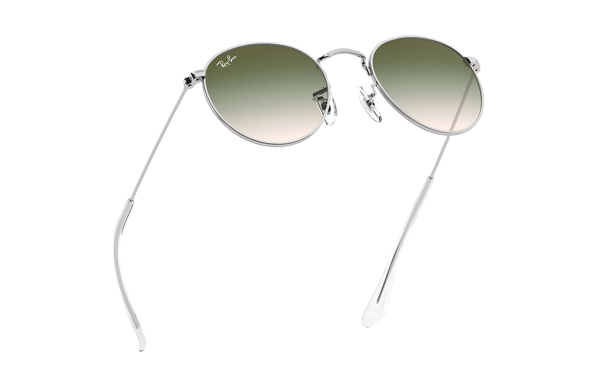 eed09d2381 Ray-Ban Round Metal Junior RB9547S Plata - Metal - Lentes Verde ...