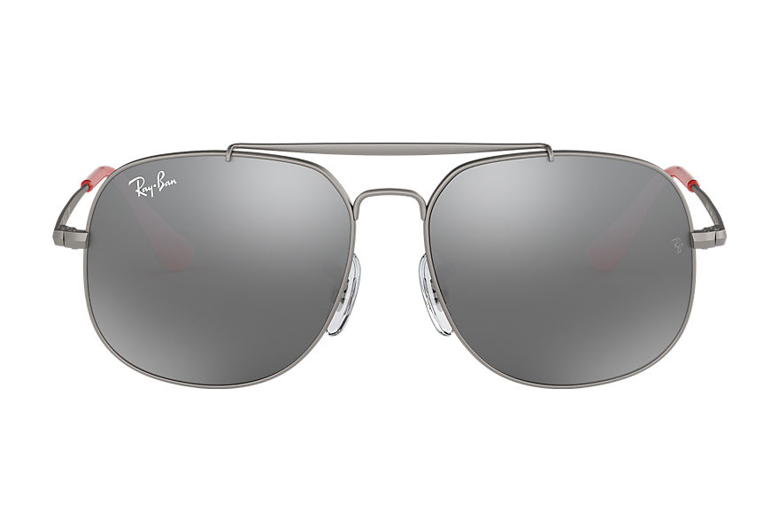 Ray-Ban GENERAL JUNIOR Gunmetal with Grey Gradient Mirror lens