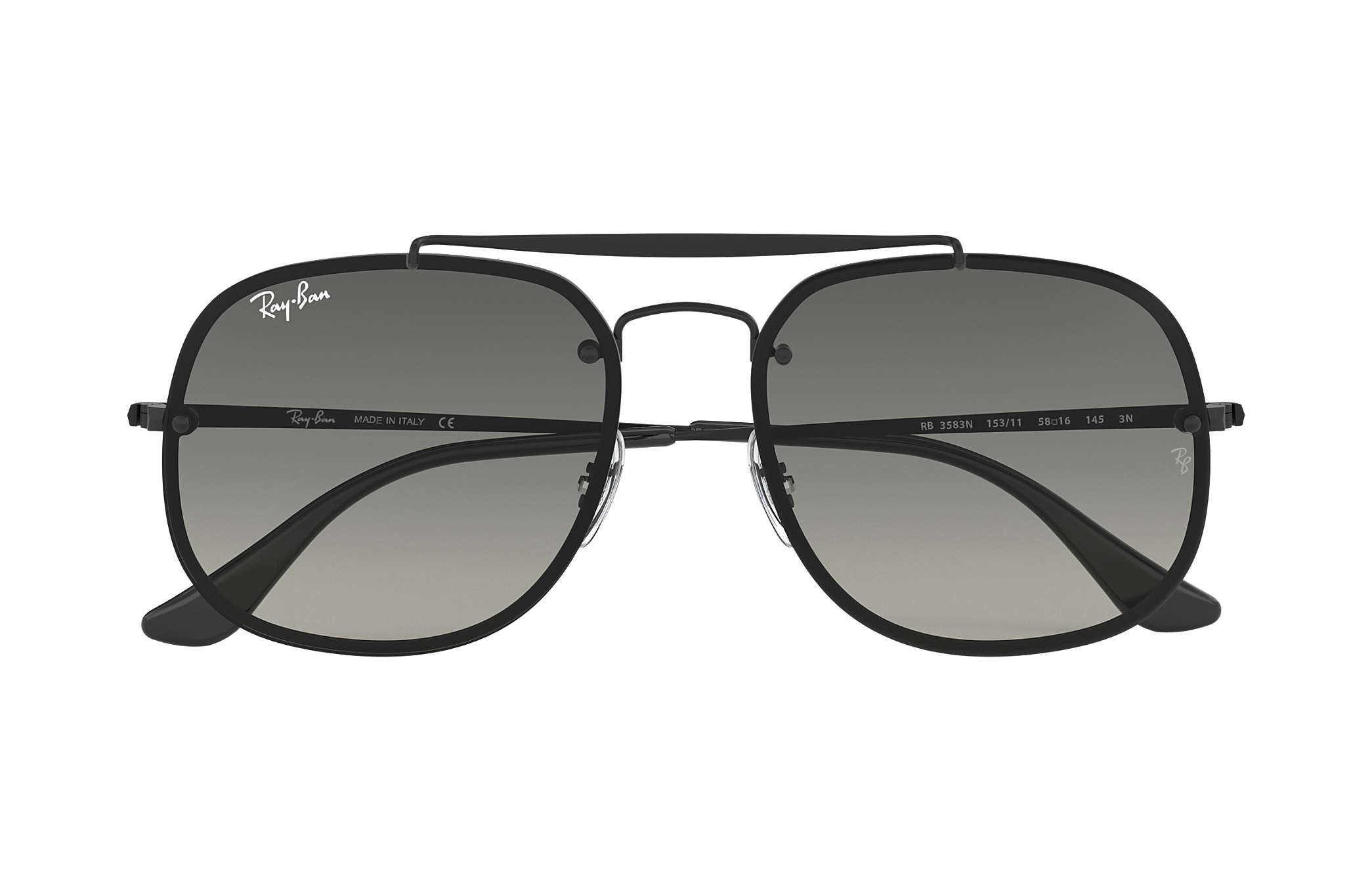 29115378f1f Ray-Ban Blaze General RB3583N Black - Steel - Grey Lenses ...