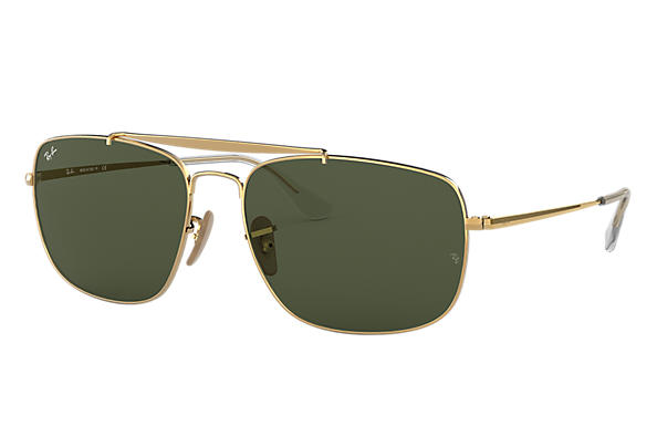 ed8cba69587c Ray-Ban Colonel RB3560 Gold - Steel - Green Lenses - 0RB356000158 ...