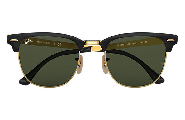 Ray-Ban CLUBMASTER METAL Black with Green Classic G-15 lens
