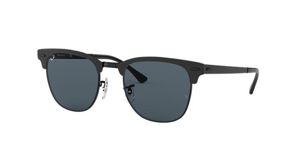 3a874a534 Ray-Ban Clubmaster Metal RB3716 Black - Metal - Blue Lenses -  0RB3716186/R551 | Ray-Ban® USA